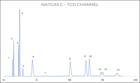 Figure 2: Permanent gases on TCD channel